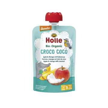 Holle Croco Coco Bio ovocné pyré jablko, mango, kokos 100 g