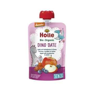 Holle Dino Date Bio ovocné pyré jablko, borůvky a datle 100 g