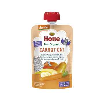 Holle Carrot Cat Bio pyré mrkev, mango, banán a hruška 100 g