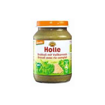 Holle Bio Dětská přesnídávka brokolice s celozrnnou rýží 190 g