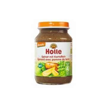 Holle Bio Dětská přesnídávka špenát s bramborem 190 g