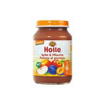 Holle Bio Dětská přesnídávka jablko a švestka 190 g