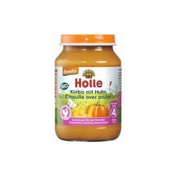 Holle Bio Dětská přesnídávka dýně s kuřecím masem 190 g
