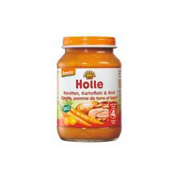 Holle Bio Dětská přesnídávka mrkev, brambor a hovězí maso 190 g