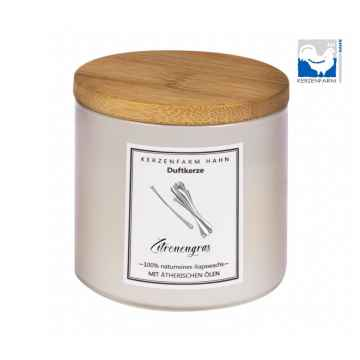 Kerzenfarm Přírodní svíčka Lemongrass, slonovinové sklo 1 ks, 6,5 cm