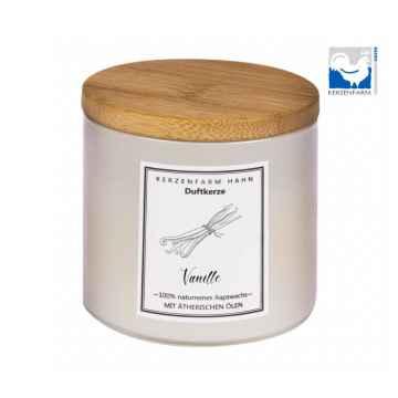 Kerzenfarm Přírodní svíčka Vanilla, slonovinové sklo 1 ks, 6,5 cm