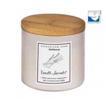 Kerzenfarm Přírodní svíčka Vanilla lavender, slonovinové sklo 1 ks, 6,5 cm