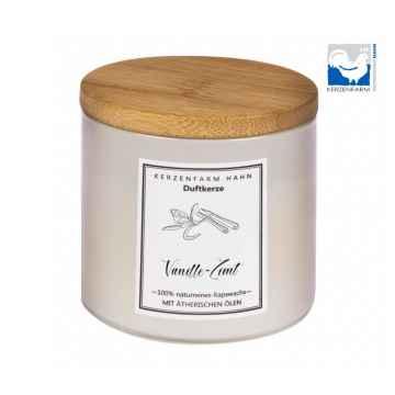 Kerzenfarm Přírodní svíčka Vanilla cinnamon, slonovinové sklo 1 ks, 6,5 cm