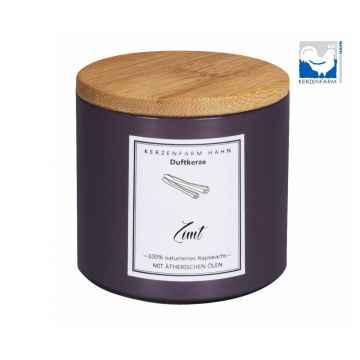 Kerzenfarm Přírodní svíčka Cinnamon, pískové sklo 1 ks, 6,5 cm