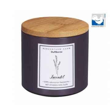 Kerzenfarm Přírodní svíčka Lavender, pískové sklo 1 ks, 6,5 cm