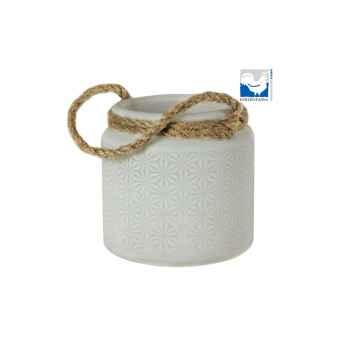 Kerzenfarm Skleněný svícen na čajové svíčky bílý 1 ks, 9,5 cm