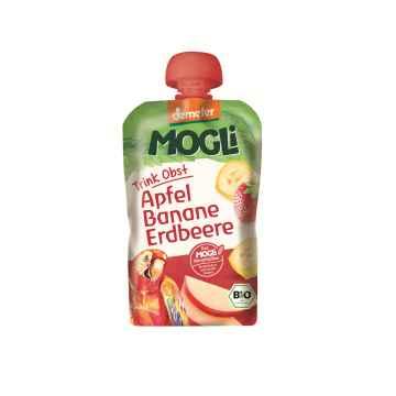 MOGLI Bio Ovocné pyré jablko banán jahoda bez cukru 100 g