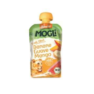 MOGLI Bio Ovocné pyré banán guava mango bez cukru 100 g