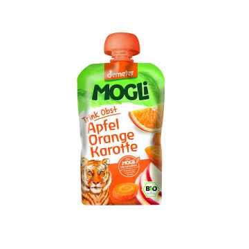 MOGLI Bio Ovocné pyré jablko pomeranč mrkev bez cukru 100 g