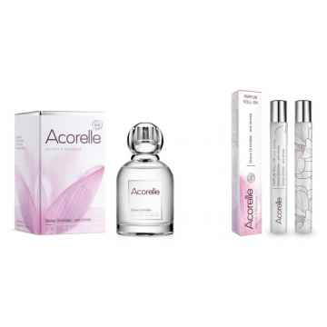 Acorelle Vánoční sada Orchidej s kosmetickou taštičkou 50 ml + 10 ml