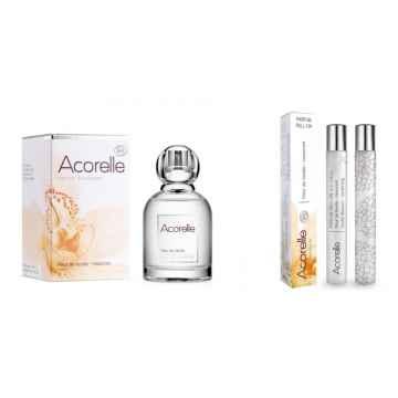 Acorelle Vánoční sada Květy vanilky s kosmetickou taštičkou 50 ml + 10 ml