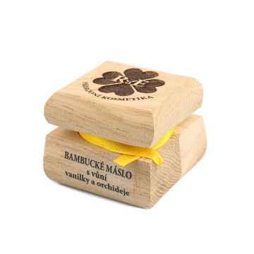 RaE Bambucké máslo s vůni vanilky a orchideje 30 ml, dřevěný obal