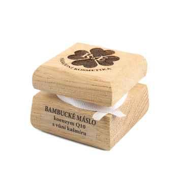 RaE Bambucké máslo koenzym Q10 s vůni kašmíru 30 ml, dřevěný obal