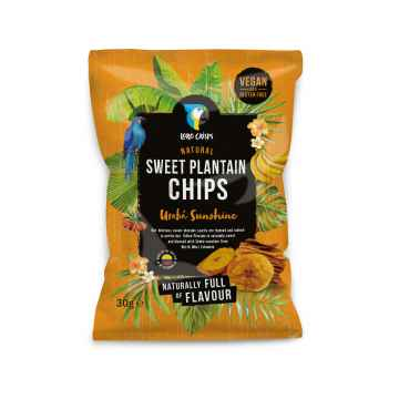 Loro Crisps Veganské chipsy sladké Uraba Sunshine 30 g