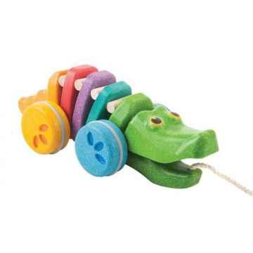 PLAN TOYS Tančící duhový krokodýl 1 ks