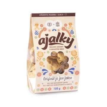 AJALA CHOCOLATE BIO Ajalky Originál je jen jeden, máslové sušenky 100 g