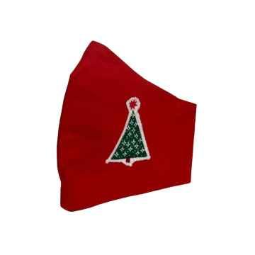 MarVa de Luxe Vánoční rouška dětská červená 1 ks