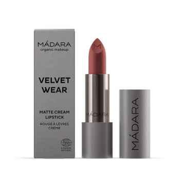 MÁDARA Velvet wear matná rtěnka, odstín 32 warm nude 3,8 g