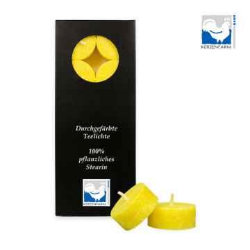 Kerzenfarm Čajové svíčky, Yellow 10 ks