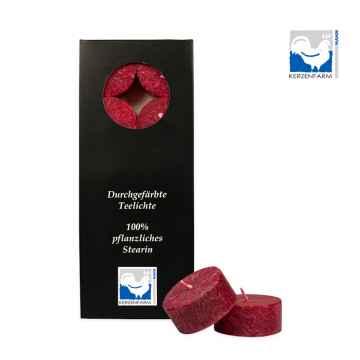 Kerzenfarm Čajové svíčky, Dark red 10 ks
