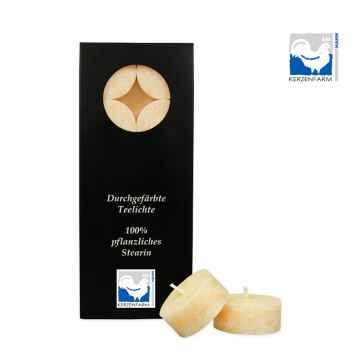 Kerzenfarm Čajové svíčky, Creme 10 ks
