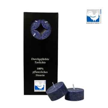 Kerzenfarm Čajové svíčky, Dark blue 10 ks