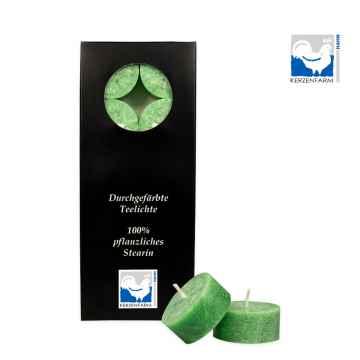 Kerzenfarm Čajové svíčky, Green 10 ks