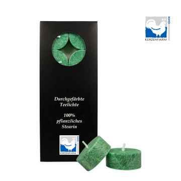 Kerzenfarm Čajové svíčky, Dark green 10 ks
