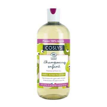 Coslys Dětský přírodní šampon, jablko a hruška 500 ml