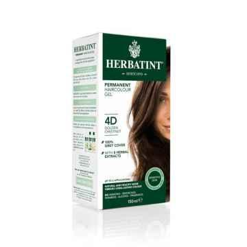 HERBATINT Permanentní barva na vlasy zlatavý kaštan 4D 150 ml