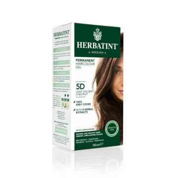 HERBATINT Permanentní barva na vlasy zlatavý kaštan 5D 150 ml