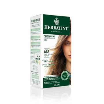 HERBATINT Permanentní barva na vlasy tmavá zlatavá blond 6D 150 ml