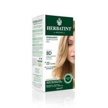 HERBATINT Permanentní barva na vlasy světle zlatavá blond 8D 150 ml