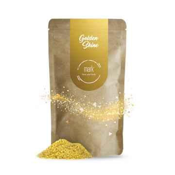 MARK face and body Přírodní kávový peeling se zlatými třpytkami MARK Golden Shine 100 g