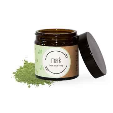 MARK face and body Pleťová pudrová maska MARK green tea face mask 30 g