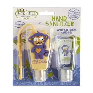 Jack n Jill Antibakteriálni gel na ruce pro děti Opice 2 x 29 ml