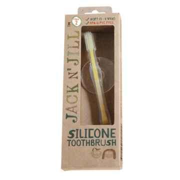 Jack n Jill Silikonový zubní katáček se štítem 1 ks