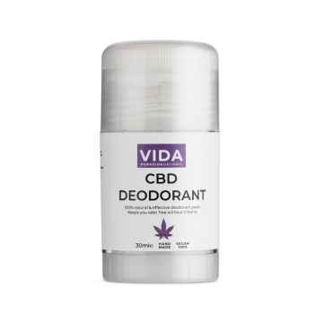 Pura Vida Organic CBD Tuhý deodorant, 300 mg 30 ml