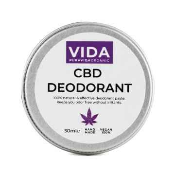 Pura Vida Organic CBD Krémový deodorant, 300 mg 30 ml