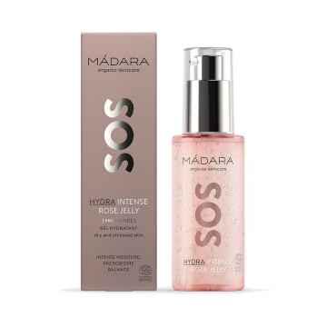 MÁDARA SOS Hydra Intense, hydratační hyaluronové želé s růžovou vodou 75 ml