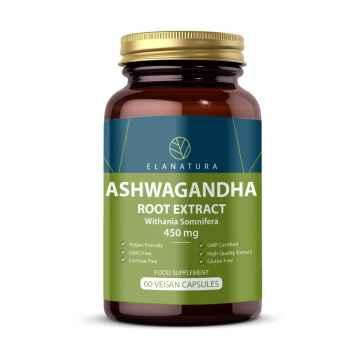 ELANATURA Ashwagandha, kapsle 60 ks, 30 g