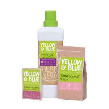 Tierra Verde Prací gel levandule + Změkčovač vody + Testovací pásek, multipack 1 l + 250 g + 1 ks