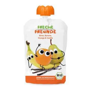 Freche Freunde BIO Ovocná kapsička hruška, banán, pomeranč s vanilkou 100 g