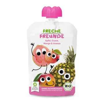 Freche Freunde BIO Ovocná kapsička jablko, meloun, mango a ananas 100 g