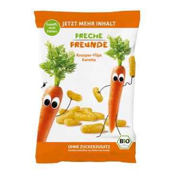 Freche Freunde BIO Křupky kukuřice a mrkev 30 g